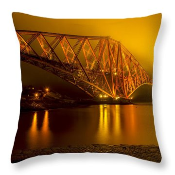 The Forth Bridge From North Queensferry Throw Pillow