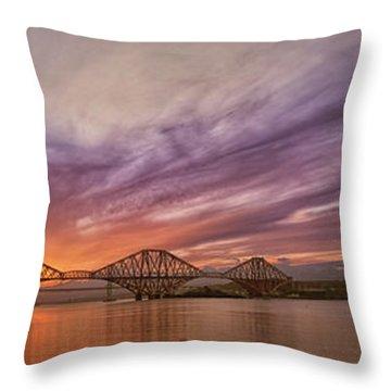 The Forth Rail Bridge Throw Pillow