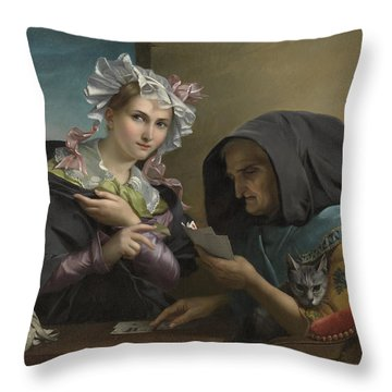The Fortune Teller Throw Pillow by Adele Kindt