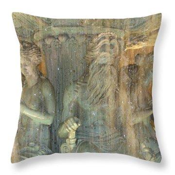 The Fountain Throw Pillow