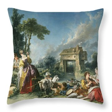 The Fountain Of Love Throw Pillow
