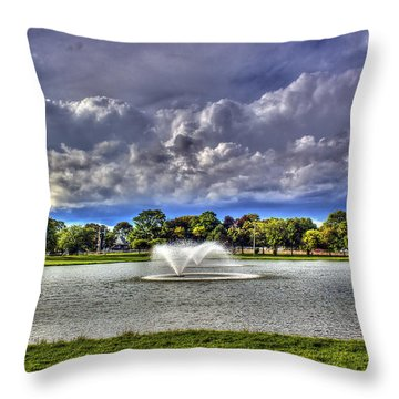 The Fountain Throw Pillow by Tim Buisman