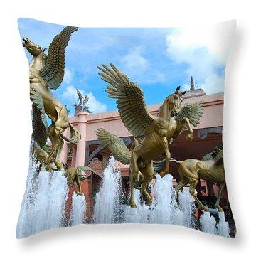 The Fountains At Atlantis Throw Pillow