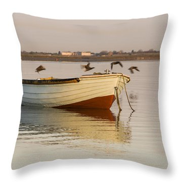 Throw Pillow featuring the photograph The Four Flying Boatmen by Trevor Chriss