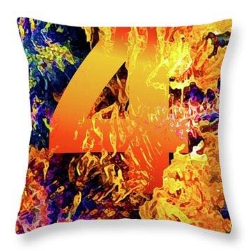 The Four Of Creation Throw Pillow by Chuck Mountain