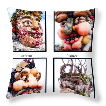 The Four Seasons Throw Pillow by Diane Wood