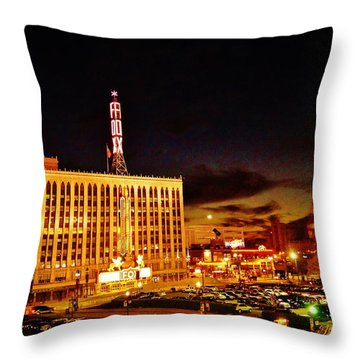 The Fox At Sunset Throw Pillow by Daniel Thompson