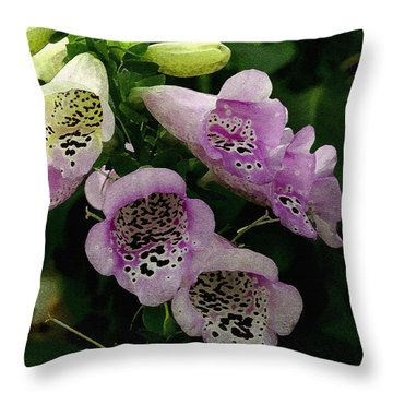 Throw Pillow featuring the photograph The Foxglove by James C Thomas
