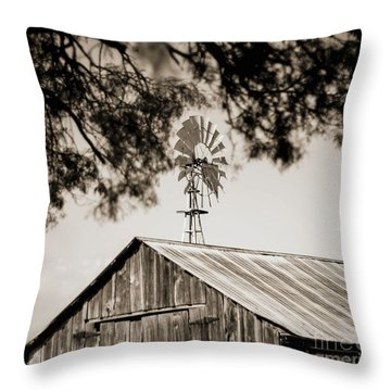 Throw Pillow featuring the photograph The Framed Windmill by Amber Kresge
