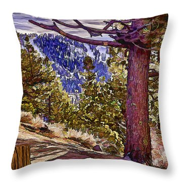 The Framing Tree Throw Pillow