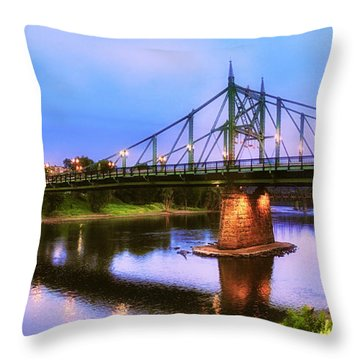 The Free Bridge Throw Pillow