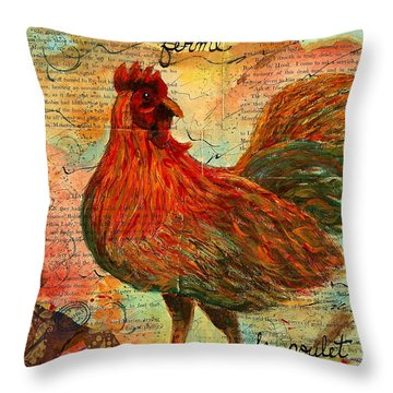 The French Chicken Throw Pillow