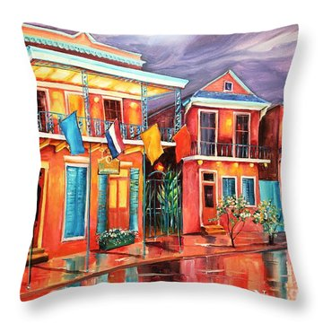 The Frenchmen Hotel New Orleans Throw Pillow by Diane Millsap