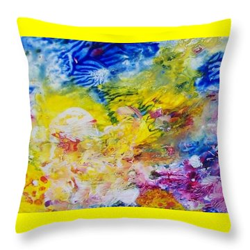 The Frequency Of Joy Throw Pillow