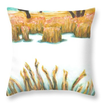 The Freshness Of Winter Throw Pillow