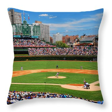 The Friendly Confines Throw Pillow