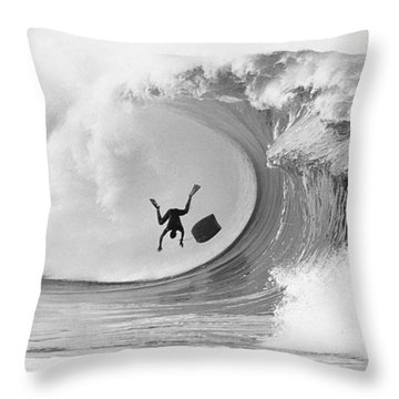The Frogman Throw Pillow by Sean Davey