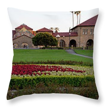 The Front Of Stanford University Throw Pillow