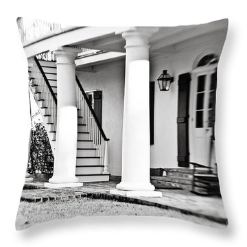The Front Porch - Bw Throw Pillow