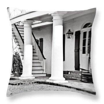 The Front Porch Throw Pillow by Scott Pellegrin