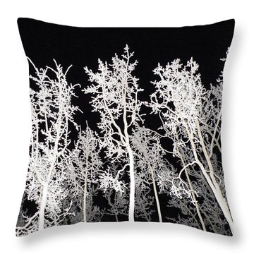 Throw Pillow featuring the photograph The Frost Gleams By Night by Brian Boyle