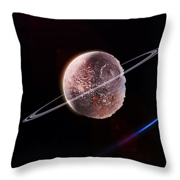 The Frozen Planet  Throw Pillow by Naomi Burgess