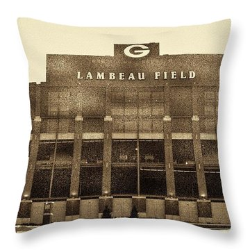 The Frozen Tundra Throw Pillow by Tommy Anderson