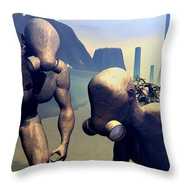 The Future Ancients Throw Pillow