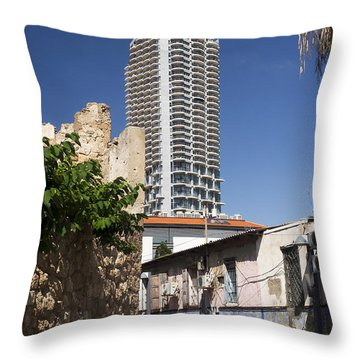 Throw Pillow featuring the photograph The Future Is Beyond The Corner by Arik Baltinester