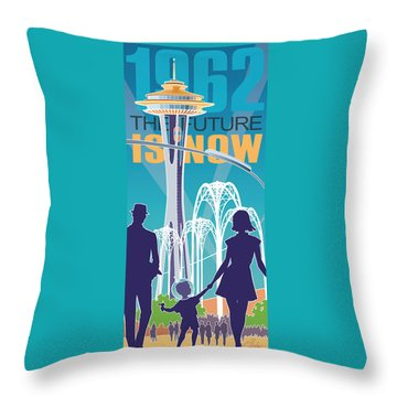 The Future Is Now - Daytime Throw Pillow