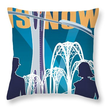 The Future Is Now - Night Time Throw Pillow