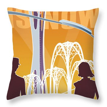The Future Is Now - Orange Throw Pillow