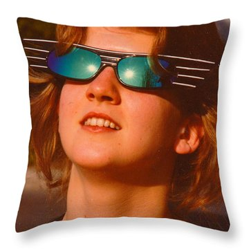 The Future's So Bright Throw Pillow by Jesse Ciazza