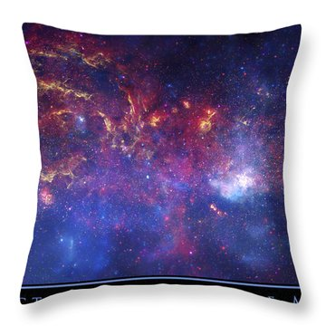 The Galactic Center Of The Milky Way Throw Pillow