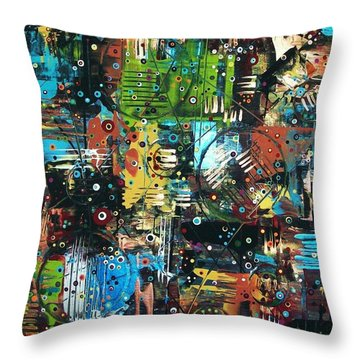 The Games People Play Throw Pillow