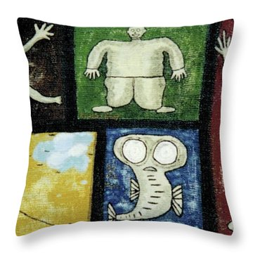 The Gang Of Five Throw Pillow