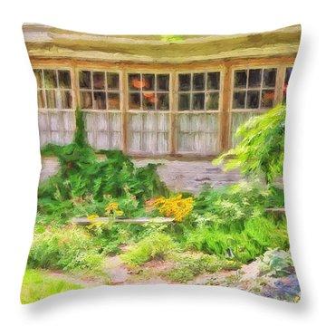 The Garden At Juniata Crossings Throw Pillow by Lois Bryan
