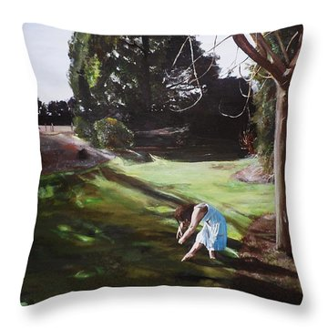 The Garden Throw Pillow by Cherise Foster