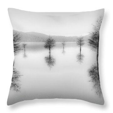 The Garden Dream Throw Pillow by Debra and Dave Vanderlaan
