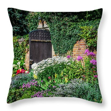 The Garden Gate Throw Pillow