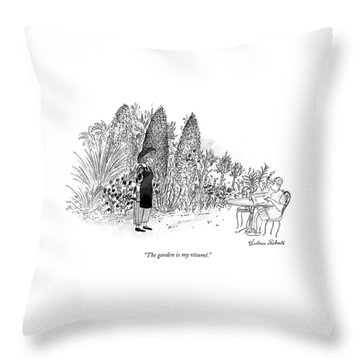 The Garden Is My Resume Throw Pillow