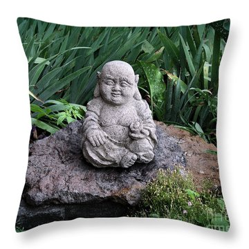 The Garden Keeper Throw Pillow by Bedros Awak