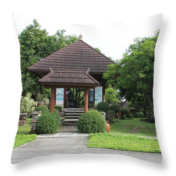 Throw Pillow featuring the photograph The Garden by Lorna Maza