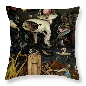 The Garden Of Earthly Delights. Right Panel Throw Pillow