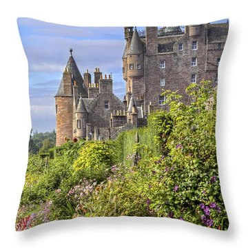 The Garden Of Glamis Castle Throw Pillow
