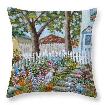 The Garden Of Indiscrimitive Plantings. Throw Pillow
