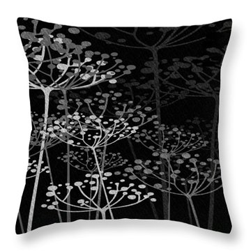 The Garden Of Your Mind Bw Throw Pillow