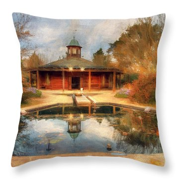 The Garden Pavilion Throw Pillow