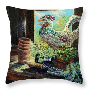 The Garden Shed Throw Pillow