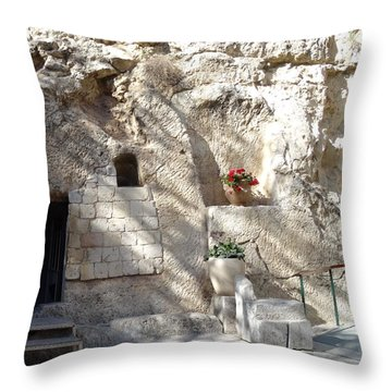 The Garden Tomb  In Jerusalem Throw Pillow